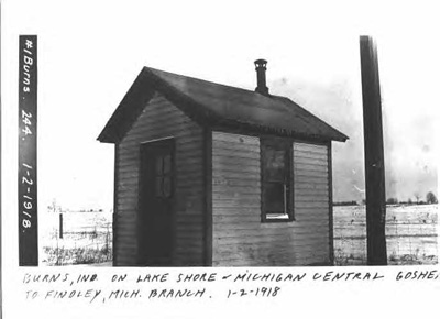 Photo of Burns whistle stop shelter