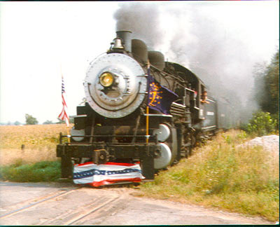 Photo of an excursion train