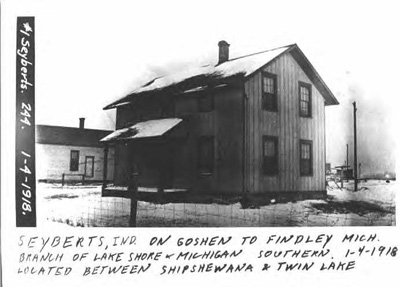 Photo of the railroad depot in Syberts