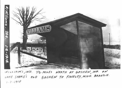 Photo of Williams whistle stop shelter