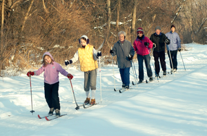 Photo of cross country skiers